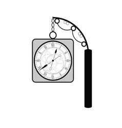 clock ancient black vector image vector image