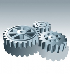 metal operation gears vector image vector image
