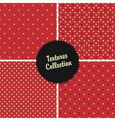 red classical polka dot patterns collection vector image vector image