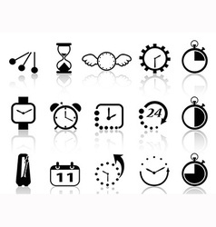 Time concept icons set vector