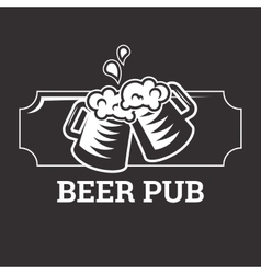 Beer insignia badge vector image vector image