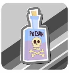 bottle of poison vector image