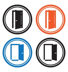 Door icons vector image vector image