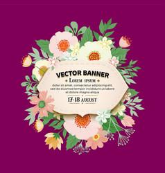 floral frame design vector image