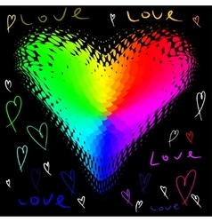 funky love heart vector image
