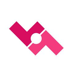 Team communication interlock symbol design vector