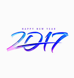 2017 text style with abstract blue shapes vector