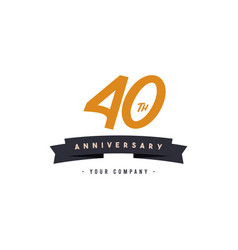 40 years anniversary celebration your company vector