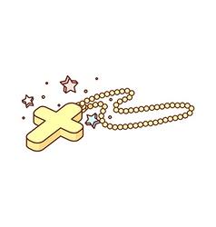 A cross necklace vector