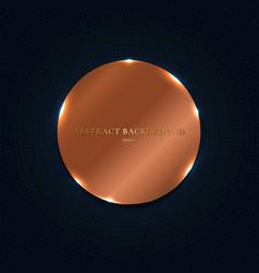 abstract copper shiny metallic circle vector image