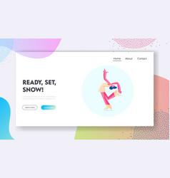 Acrobatic ice dancing individual program website vector