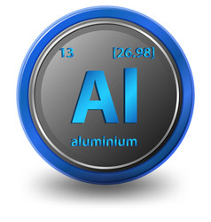 Aluminium chemical element chemical symbol vector