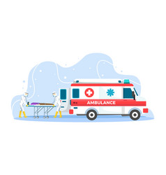 Ambulance emergency concept vector