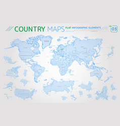 america asia africa europe australia oceania vector image