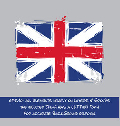 American revolution british flag flat - artistic vector