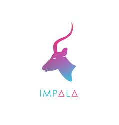 Artistic stylized antelope logotype vector