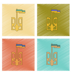 Assembly flat shading style icon emblem of ukraine vector