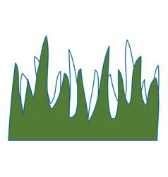 Background grass symbol vector