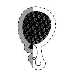 Balloon air with stars vector