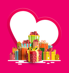 birthday - valentine or christmas greeting card vector image vector image