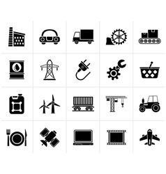 Black Business and industry icons vector image