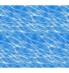 blue doodle waves seamless pattern vector image