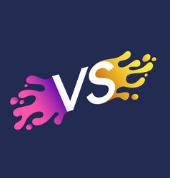 bright poster symbols of confrontation vs can be vector image
