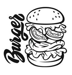 Burger jump vector