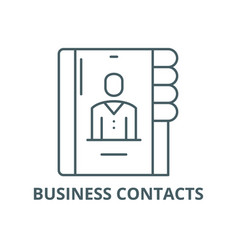 business contacts line icon business vector image