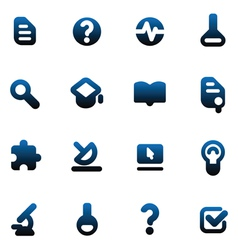Buttons for science vector image
