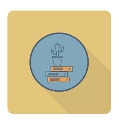 Cactus is on Folders vector image