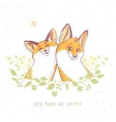 Cartoon funny fox vector