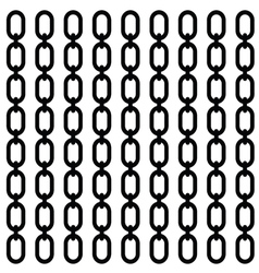 chain set in black vector image