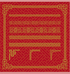 chinese border ornament vector image