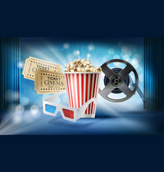 cinema background concept 3d vector image