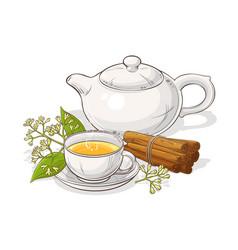 cinnamon tea vector image