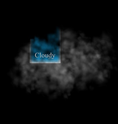 cloudy design element abstract background vector image