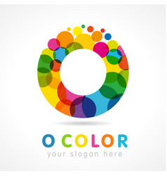 colored o logo creative concept vector image