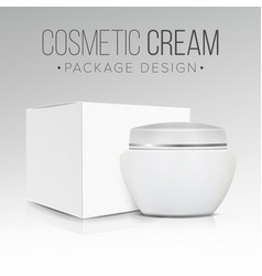 Cosmetic packaging design paper or vector