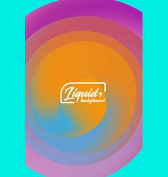 Cover template with abstract liquid objects vector