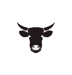cow head symbols and logo template vector image