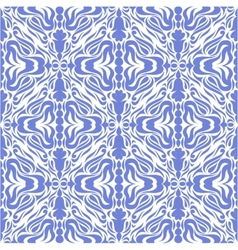 Damask blue seamless background vector