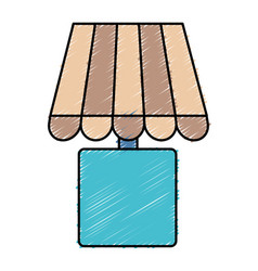 Decorative lamp icon vector