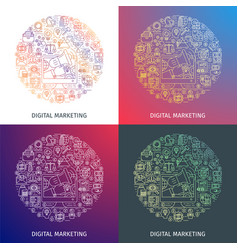 digital marketing concept vector image