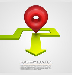 Direction arrow navigation path vector