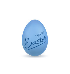 easter egg 3d icon blue egg lettering isolated vector image
