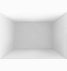 Empty box top view white studio interior vector