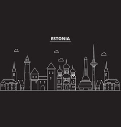 Estonia silhouette skyline estonia city vector