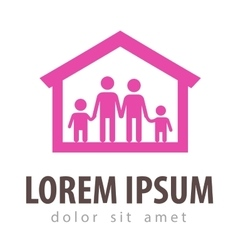 family logo design template house or home vector image