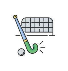 Field hockey rgb color icon vector